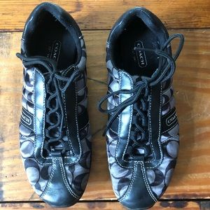 COACH BLACK & GRAY SNEAKERS